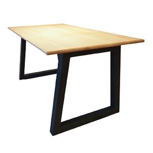 オーク材+スチールテーブル